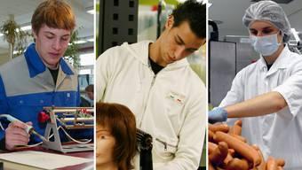Diese drei Branchen plagen Nachwuchsprobleme: Elektriker, Coiffeur, Fleischfachmann