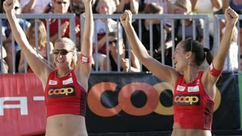 Martina Grossen (links) und Romana Kayser spielten in Marseille gross auf