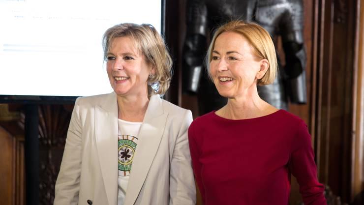 Glückliche Gewählte: Brigit Wyss (Grüne) und Susanne Schaffner (SP).