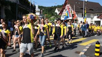 Der TV Weiningen kehrt vom Eidgenössischen Turnfest in Aarau zurück (23.06.2019)