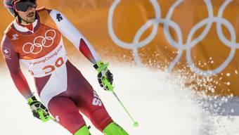 Für Carlo Janka - hier bei seinem einzigen Einsatz in der Kombination - sind die olympischen Spiele vorbei