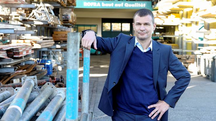 Er wollte nicht bereits als Kind Chef eines Baugeschäfts werden: CEO Christof Hiltmann auf dem Rofra-Areal in Aesch.