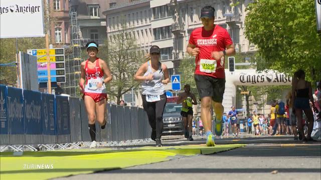 So heiss war es am Zürich Marathon noch nie!