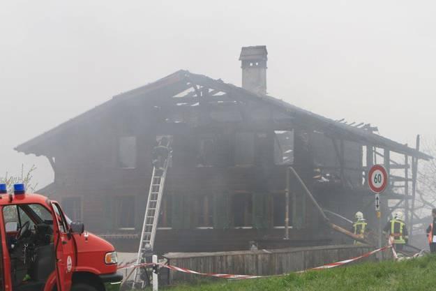 Das Bauernhaus wurde komplett zerstört