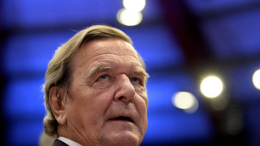Altkanzler Gerhard Schröder steht auf der Liste möglicher Rosneft-Vorstandsmitglieder (Archiv)