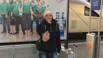 Anita Gossow (44), Erlinsbach, angetroffen im Bahnhof Aarau. Kim Wyttenbach