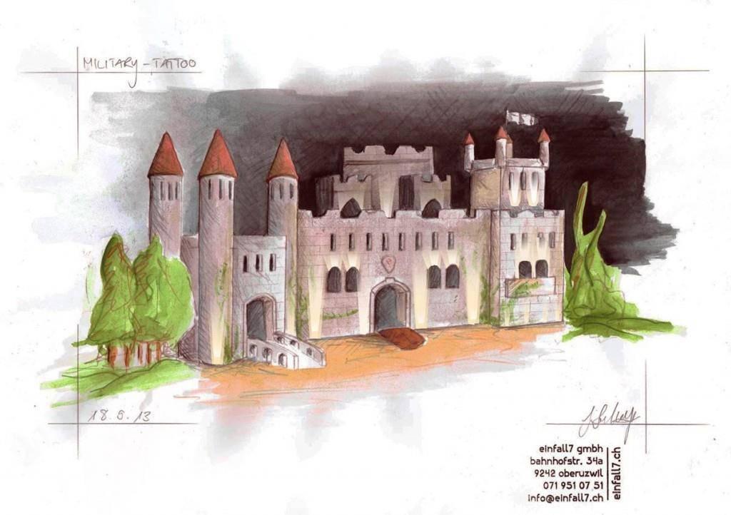 Eine Skizze der Burg. (© zVg)