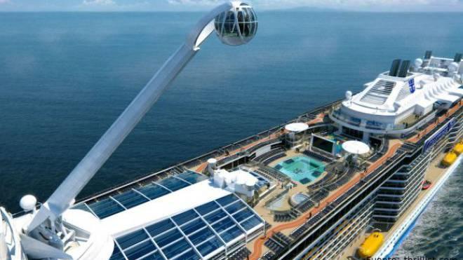 Die «Anthem of the Seas» nimmt ab nächstem April Kurs aufs Mittelmeer – mit einer Aussichtsplattform, die 90 Meter übers Wasser reicht. Foto: ho