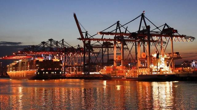 Beflügelter Aussenhandel: Containerschiffe im Hafen von Hamburg (Symbolbild, Archiv)