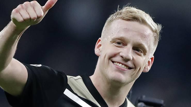 Daumen hoch für die junge Ajax-Truppe: Der 22-jährige Donny van de Beek war im Hinspiel der Champions-League-Halbfinal die grosse Figur