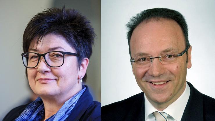 Christine Rütti (SVP) und Pierino Menna (CVP) wollen das Gemeindepräsidium.
