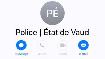 In der Romandie sind gefälschte Nachrichten im Umlauf. Sie werden im Namen der Waadtländer Polizei versandt.