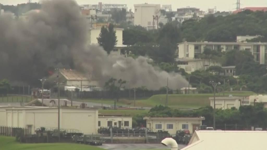Brand auf dem US-Luftwaffenstützpunkt Kadena in Japan