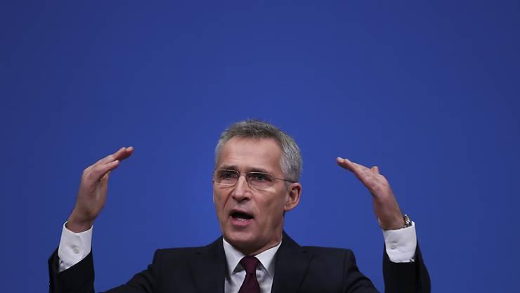 Laut Nato-Generalsekretär Stoltenberg will das Bündnis die Ausbildungsmission im Irak ausbauen. (Bild vom 11. Februar)