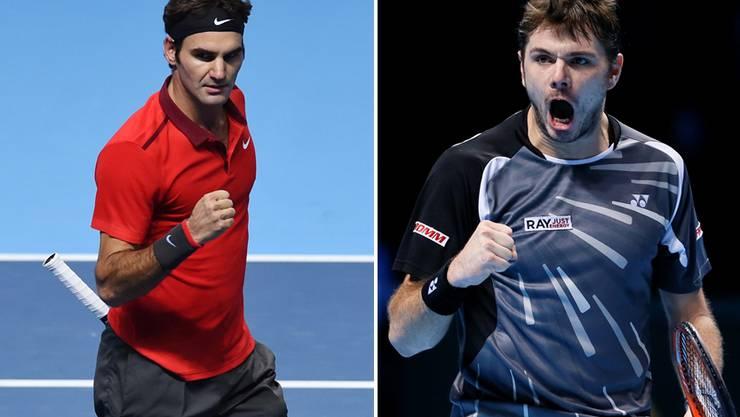 Unfassbar starke Schweizer: Es kommt im Halbfinal zum Duell Roger Federer gegen Stan Wawrinka.