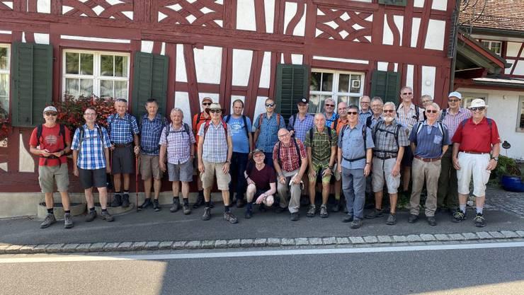 Die 28 Männerturner von Untersiggenthal