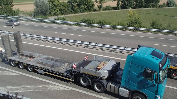Auf der Autobahn A1 bei Kölliken verunfallten am Dienstag mehrere Fahrzeuge.
