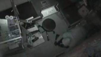 Die Überwachungskamera zeigt einen Einbrecher in einem Laden - letzte Nacht waren welche im Volg in Mühlau aktiv. (Symbolbild)