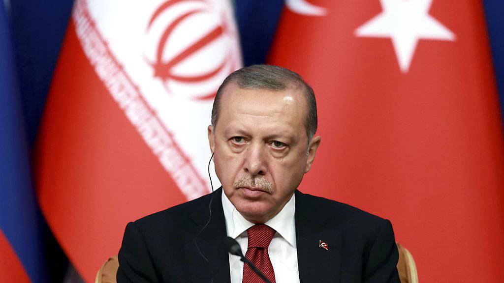 """""""Die ganze Welt wird den Preis dafür zahlen müssen"""": der türkische Präsident Recep Tayyip Erdogan warnt vor einer syrischen Offensive auf die Rebellen-Enklave Idlib. (Archivbild)"""