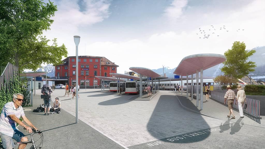 Neuer Bahnhofplatz für Arth-Goldau
