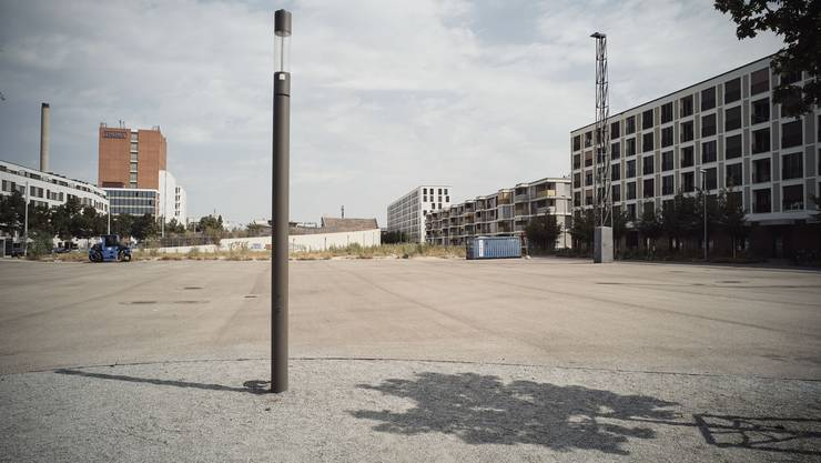 Im Erlenmatt-Quartier herrscht seit zwei Jahren Baustillstand.
