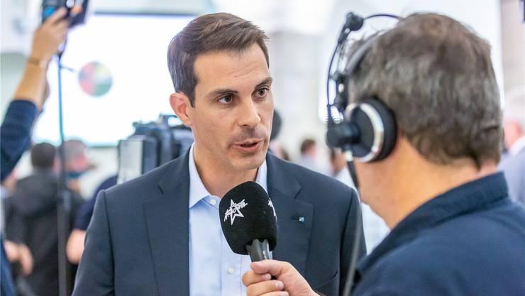 Thierry Burkart (FDP): 24'042 Panaschierstimmen. Bild: Fabio Baranzini
