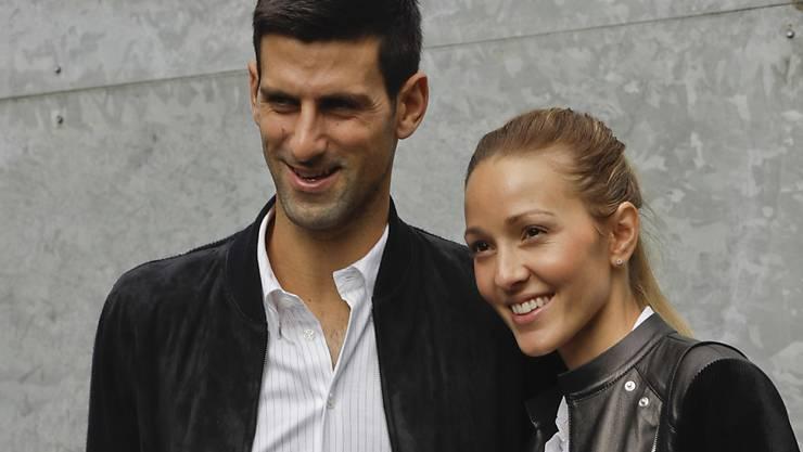 Novak Djokovic und seine Frau Jelena verzeichneten bei den neuesten Corona-Tests negative Ergebnisse