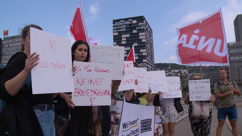 Streik beim Reinigungspersonal des Hotel Sheraton