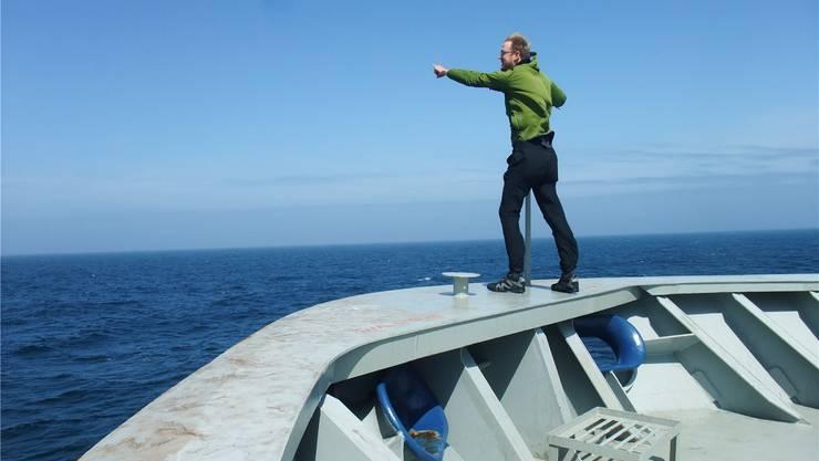 Stephanie Cordelier fuhr mit dem Auswandererschiff «Westernland» über den Atlantik, Benedikt Meyer folgte ihr mit dem Containerschiff «Indonesia» über hundert Jahre später. ZVG