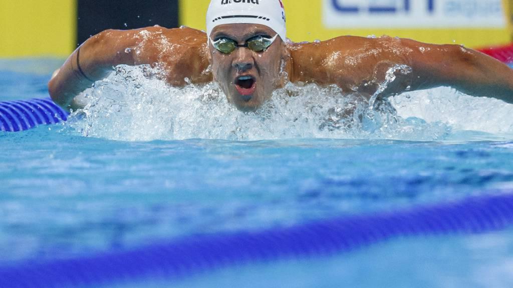 Noè Ponti schlägt im EM-Final über 100 m Delfin als Siebter an