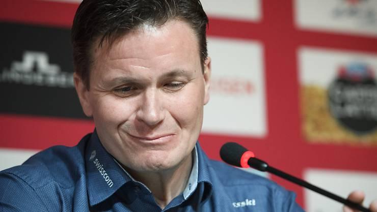 Hat nach starken Leistungen der Swiss-Ski-Rennfahrer allen Grund zum Lachen: Urs Lehmann