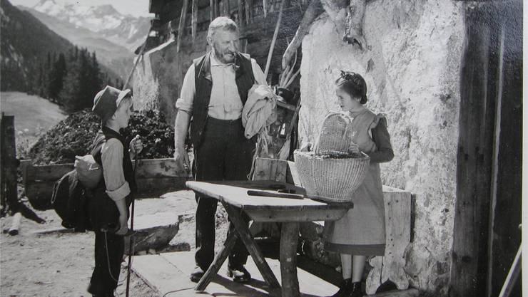 Heidi-Film von 1952: Ähnlich wie Milch soll Regionalgeld Beziehungen herstellen. HO