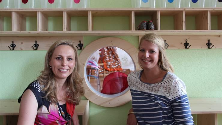 Die Geschäftsleiterinnen Corinne Welzenbach-Egger (l.) und Fabienne Burgy stellen in ihrer Kita die Interessen der Kinder in den Mittelpunkt.