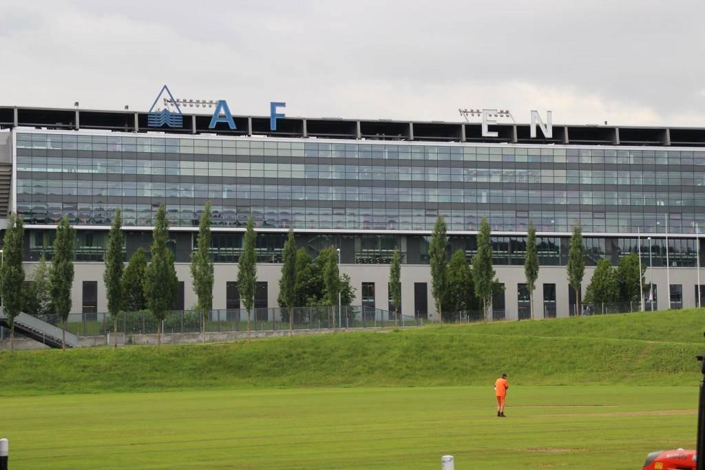 Die letzten Buchstaben der AFG-Arena (© FM1Today)