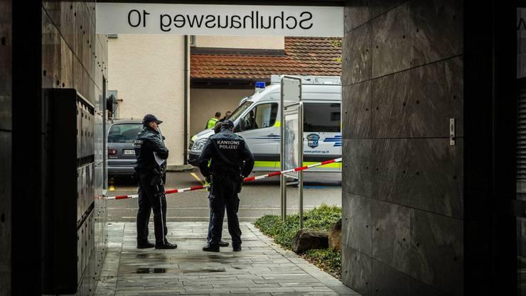 Tötungsdelikt Fislisbach - Impressionen vom Tatort.