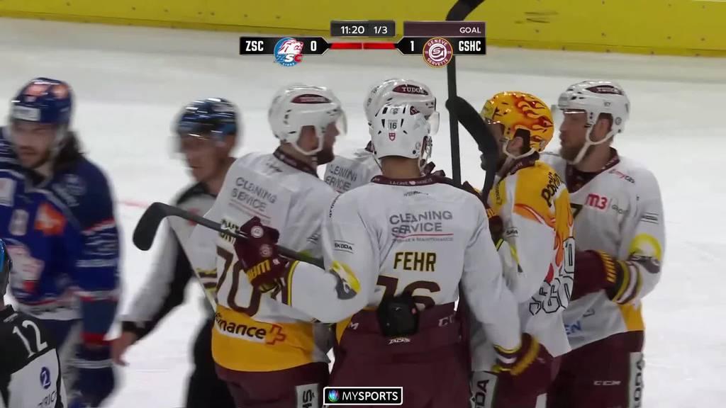 Genève-Servette siegt mit 4:1 gegen die ZSC Lions in Zürich