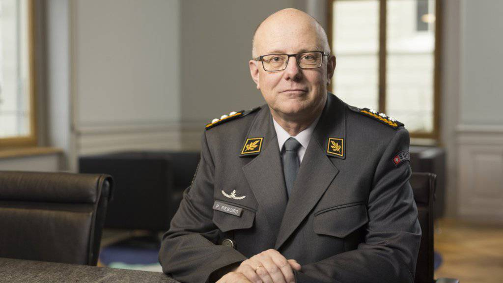 «Auf die Jungen ist Verlass»: Philippe Rebord, Chef der Schweizer Armee. (Archiv)