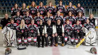 Teambild der EHC Basel Frauen der laufenden Saison.