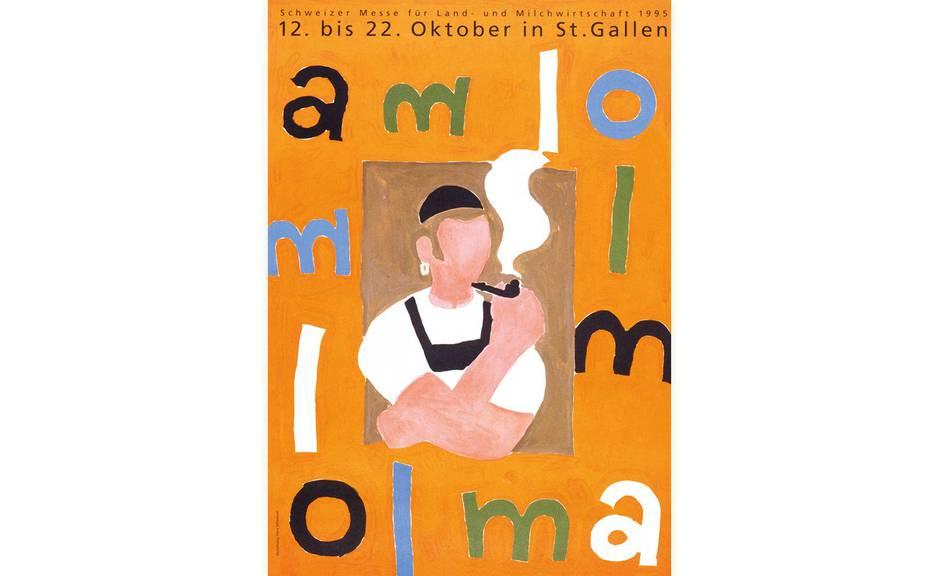 Das Olma-Plakat des Jahres 1995. (Bild: zVg)