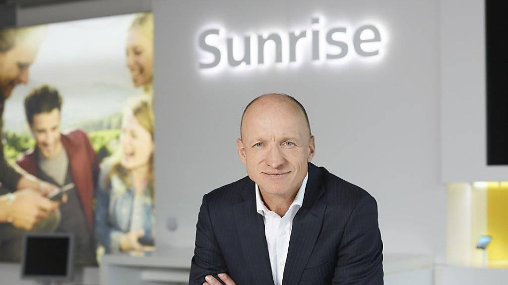 Der neue Sunrise-Chef Olaf Swantee muss einen Umsatzrückgang im ersten Halbjahr bekannt geben. (Archiv)