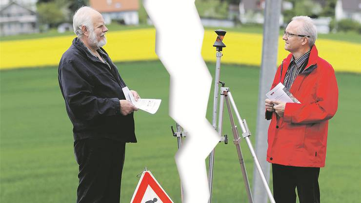 Ein Riss geht zwischen Hans Marti (SVP, links) und Gemeindepräsident Martin Blaser durch, wenn es um das Pensum des Gemeindepräsidenten geht.