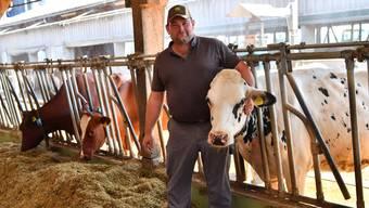 Milchbauer Pascal Heim (42) aus Neuendorf sagt: «Es sollte in der Schweiz mit einem Betrieb meiner Grösse doch möglich sein, mit der Produktion von Milch zu existieren.