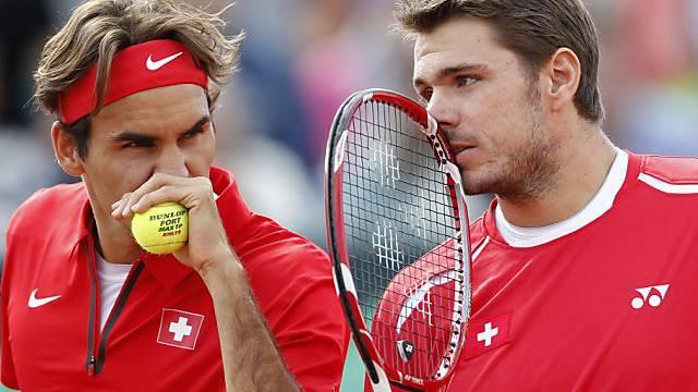 Roger Federer und Stan Wawrinka, beide fürs Masters qualifiziert