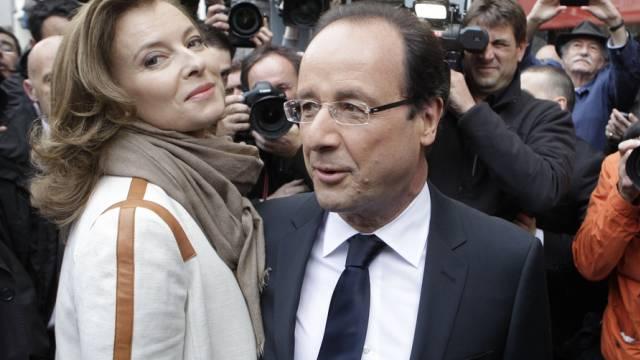 """""""Merci pour ce moment"""": Trierweiler und Hollande"""