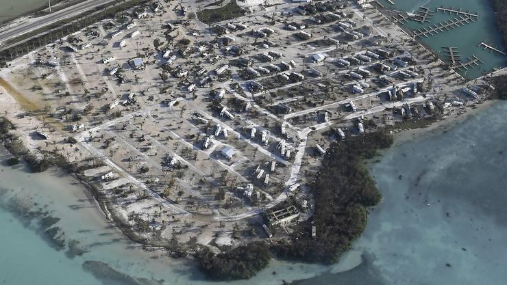 Auswirkungen des Hurrikans «Irma». Auf den Florida Keys hinterlässt der Sturm schwere Zerstörungen.