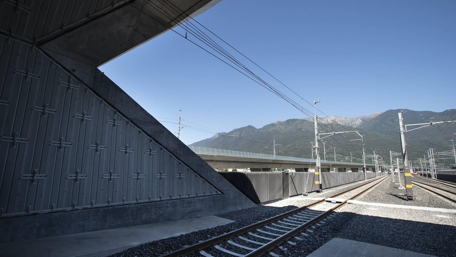 Am Ceneri-Basistunnel sollen Güterzüge in kürzeren Abständen verkehren können.