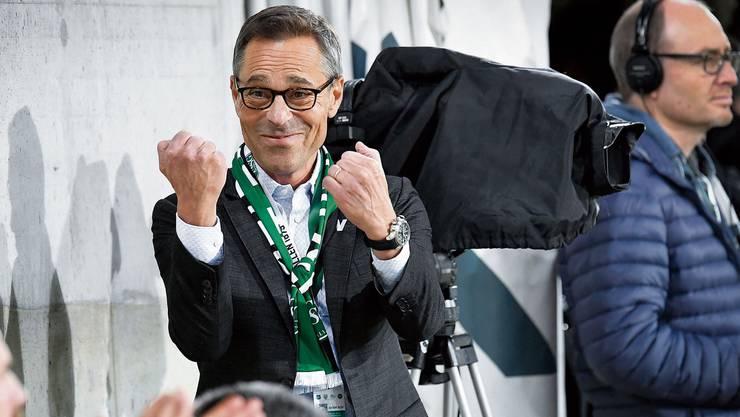 Mit Herzblut dabei: Matthias Hüppi ist seit zwei Jahren Präsident des FC St.Gallen.