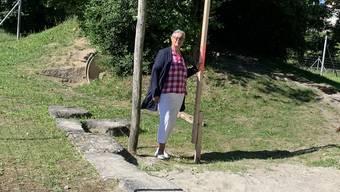 Myriam Schläpfer auf dem Spielplatz Wilmatten.