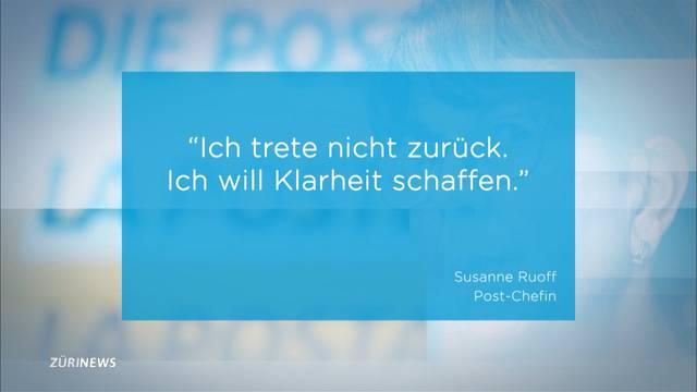 Postauto-Skandal: Susanne Ruoff schliesst Rücktritt aus