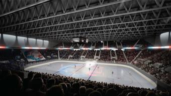 So soll die neue ZSC-Arena aussehen.Visualisierung zvg